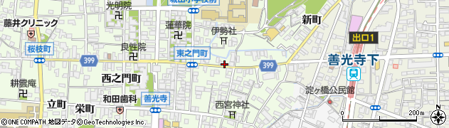 長野県長野市長野伊勢町周辺の地図