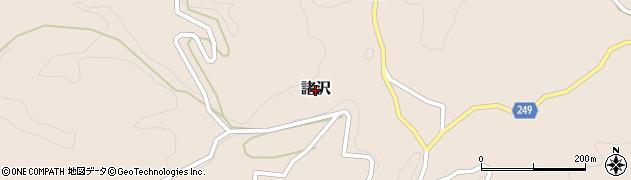 茨城県常陸大宮市諸沢周辺の地図