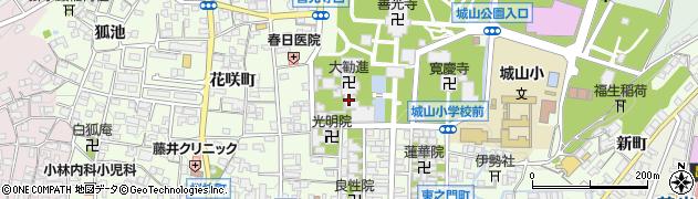 大勧進萬善堂周辺の地図