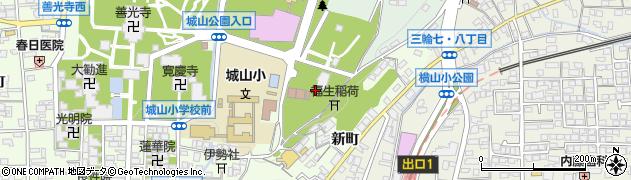 長野県長野市長野箱清水周辺の地図