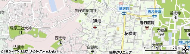 長野県長野市長野狐池周辺の地図