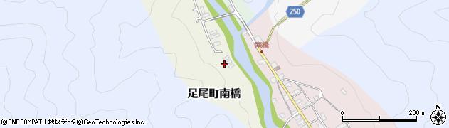 栃木県日光市足尾町南橋周辺の地図