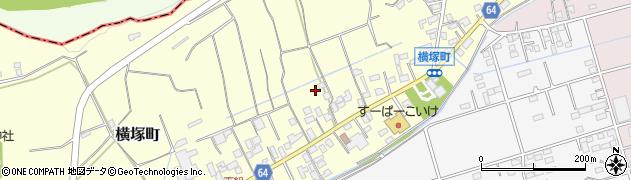 群馬県沼田市横塚町周辺の地図