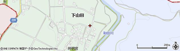 富山県高岡市下山田周辺の地図