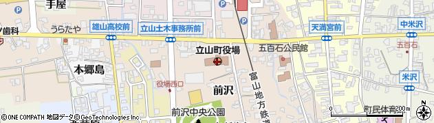 富山県立山町(中新川郡)周辺の地図