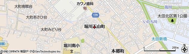 富山県富山市堀川天山町周辺の地図