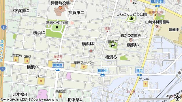 〒929-0341 石川県河北郡津幡町横浜の地図