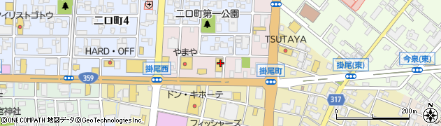 富山県富山市掛尾栄町周辺の地図