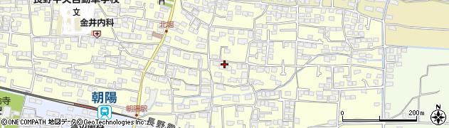 長野県長野市北堀周辺の地図