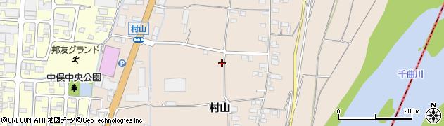 長野県長野市村山周辺の地図
