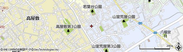 富山県富山市若葉台周辺の地図