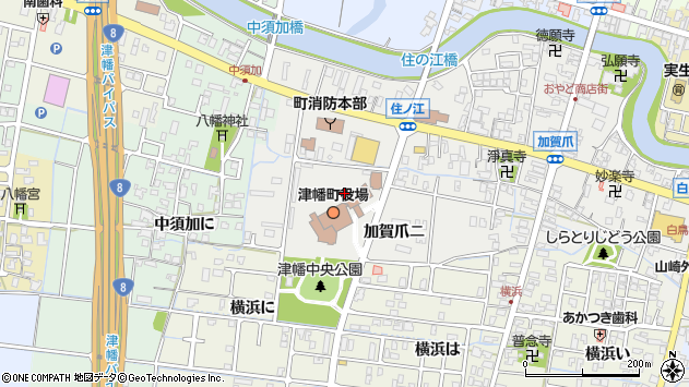〒929-0300 石川県河北郡津幡町(以下に掲載がない場合)の地図