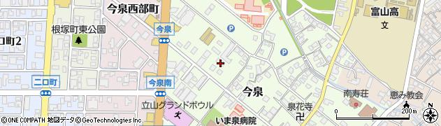 富山県富山市今泉周辺の地図