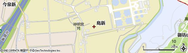 富山県高岡市島新周辺の地図