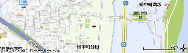 富山県富山市婦中町分田周辺の地図