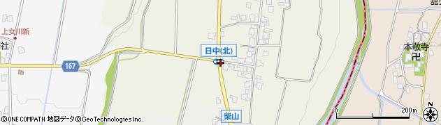 日中北周辺の地図