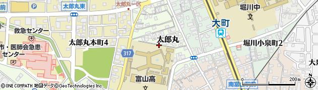 富山県富山市太郎丸周辺の地図