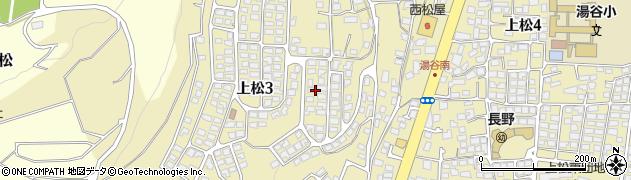 長野県長野市上松周辺の地図