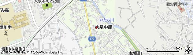 富山県富山市大泉中部周辺の地図