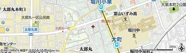 富山県富山市堀川小泉町周辺の地図