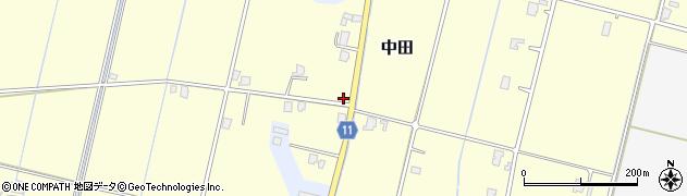 富山県高岡市中田周辺の地図