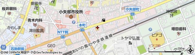 富山県小矢部市小矢部町周辺の地図
