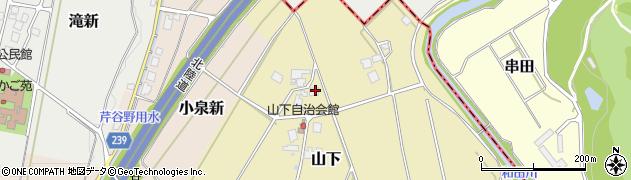 富山県高岡市山下周辺の地図
