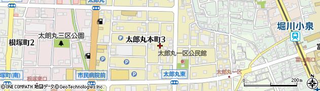 富山県富山市太郎丸本町周辺の地図