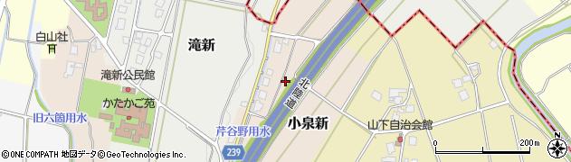 富山県高岡市小泉新周辺の地図