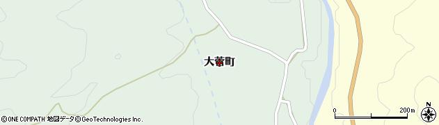 茨城県常陸太田市大菅町周辺の地図