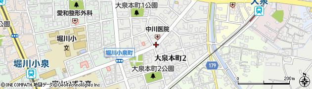 富山県富山市大泉本町周辺の地図