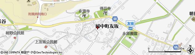 富山県富山市婦中町友坂周辺の地図