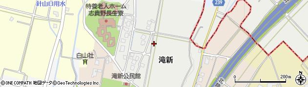 富山県高岡市滝新周辺の地図