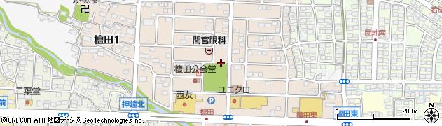 長野県長野市檀田周辺の地図