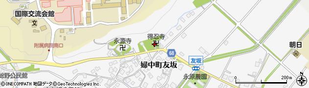 得忍寺周辺の地図