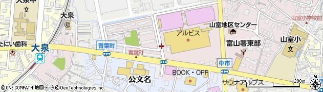 富山県富山市中市周辺の地図