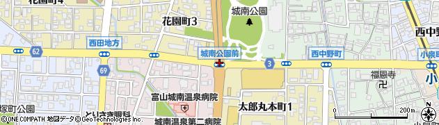 城南公園前周辺の地図