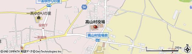 長野県上高井郡高山村周辺の地図