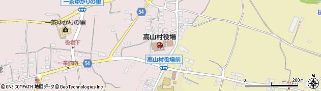 長野県高山村(上高井郡)周辺の地図