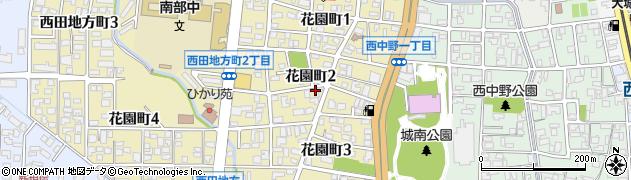 富山県富山市花園町周辺の地図