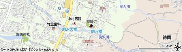 薬師寺周辺の地図