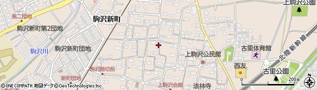 長野県長野市上駒沢周辺の地図