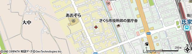 栃木県さくら市草川周辺の地図