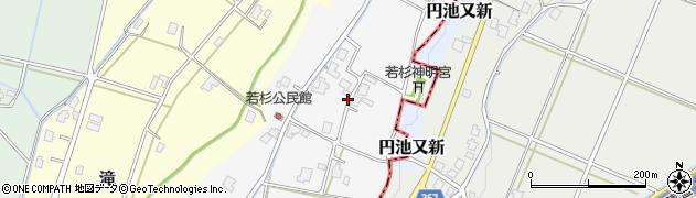 富山県高岡市若杉周辺の地図