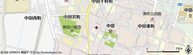 富山県高岡市中田南町周辺の地図