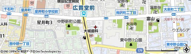 白山総社周辺の地図