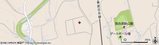 栃木県日光市明神周辺の地図