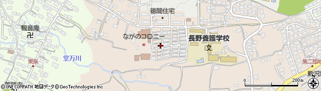 長野県長野市徳間(上野ケ丘)周辺の地図