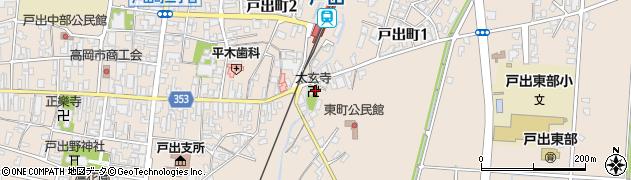 太玄寺周辺の地図