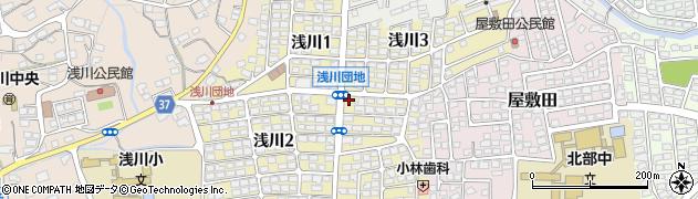 長野県長野市浅川周辺の地図